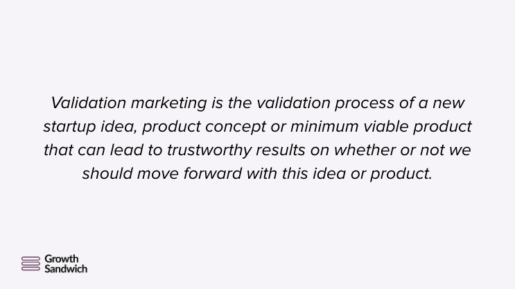 Validation Marketing Validation