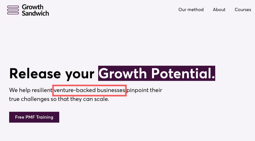Growth Sandwich Targeting