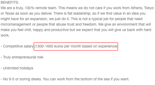 AngelList Job Post