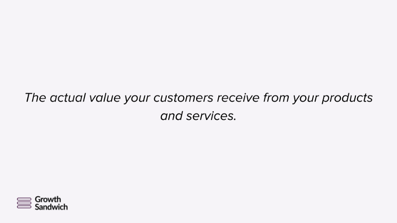 Actual Value Customers Get From Products