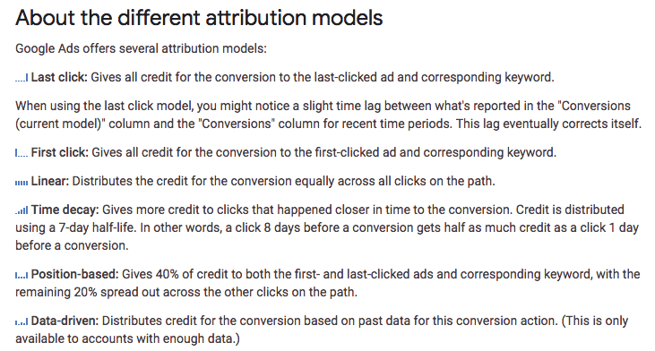 Attribution Models by Google