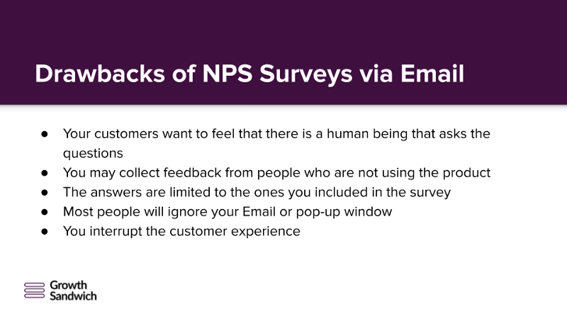 Drawbacks of NPS Survey via Email
