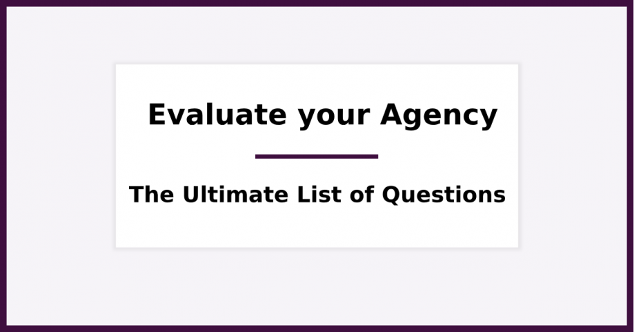 Evaluate your Marketer or Agency - The Ultimate Turbo-list