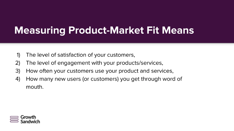 Measuring Product-Market Fit Means