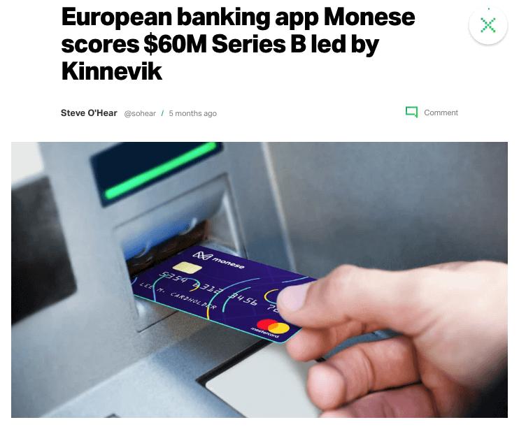 Monese Raises Million in Series B