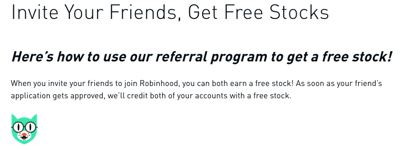 Robinhood Referral Program
