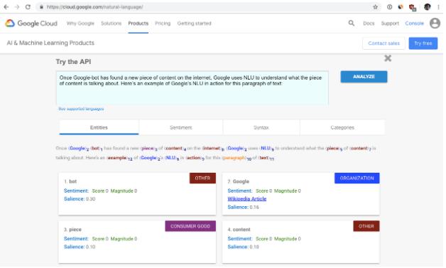 Google NLU