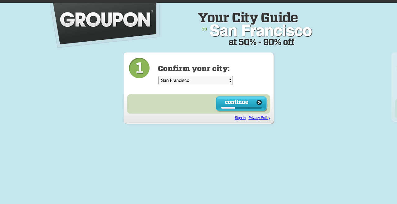 Groupon Back in 2010