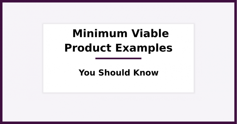 Minimum Viable Product Examples you Should Know
