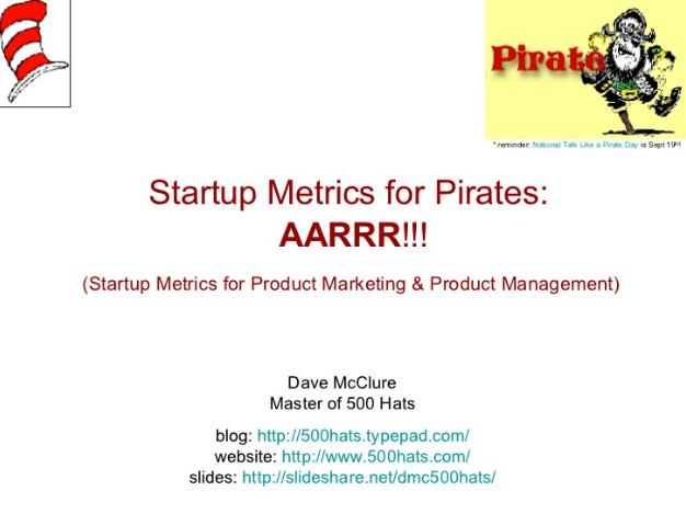 AARRR Framework Slideshare