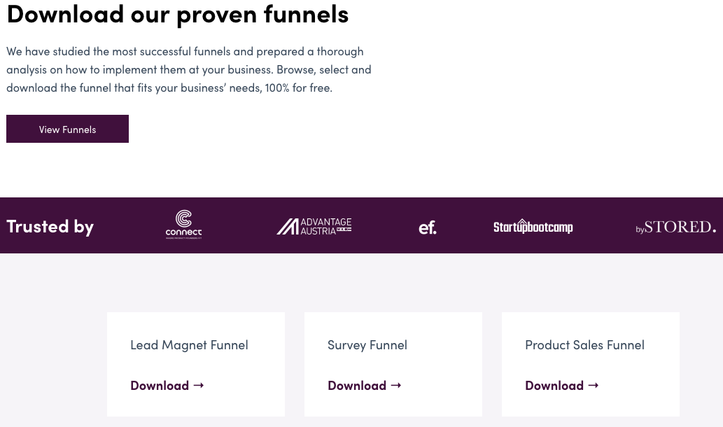 Free Marketing Funnel Templates