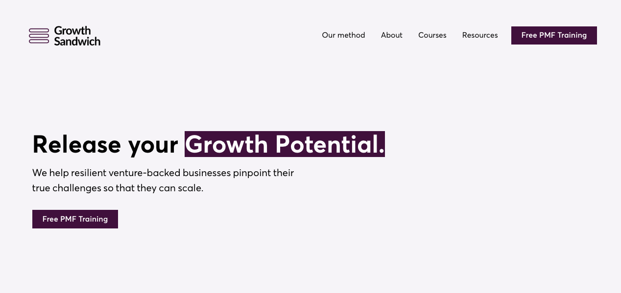 Growth Sandwich Home Page