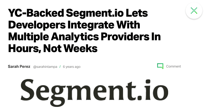 Segment.io at TechCrunch