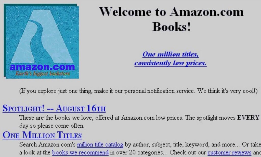 Amazon Website 1994