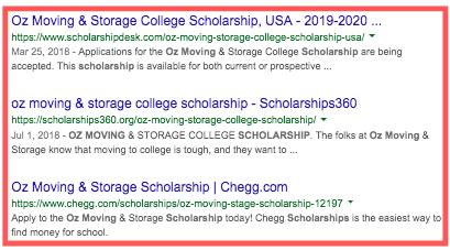 OZ Moving Scholarship Backlinks
