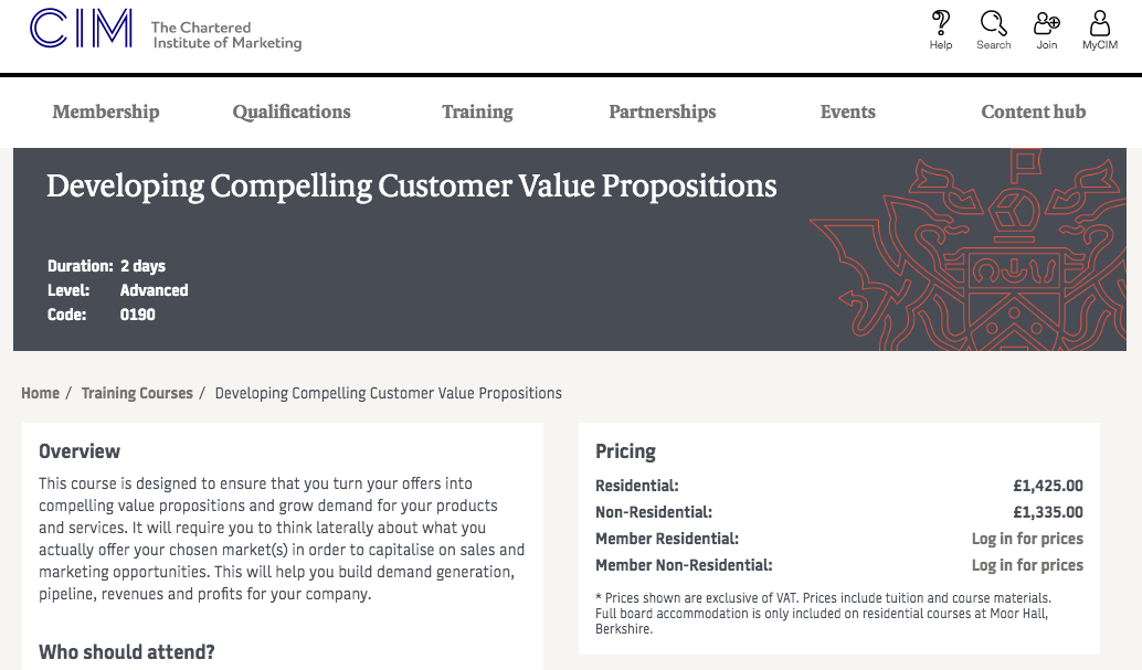 Developing Compelling Customer Value Propositions by CIM United Kingdom