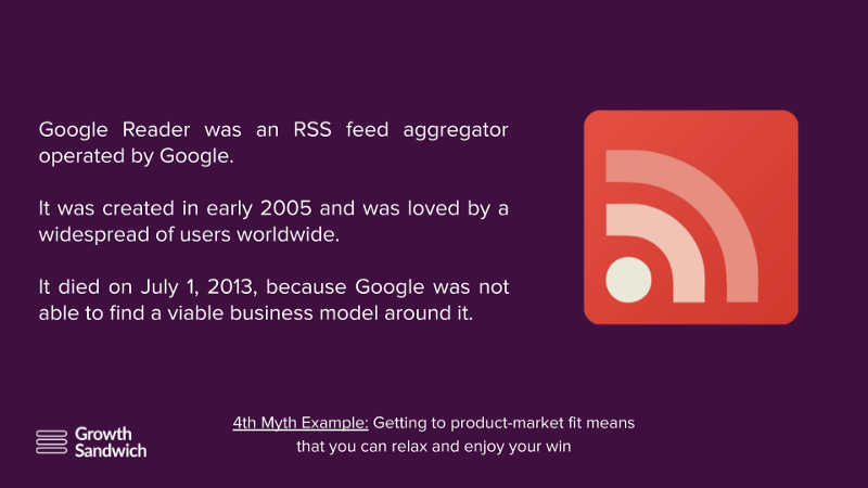 Getting to product-market fit means that you can relax and enjoy your win - Google Reader