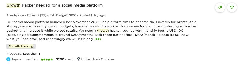 Growth Hacker Upwork