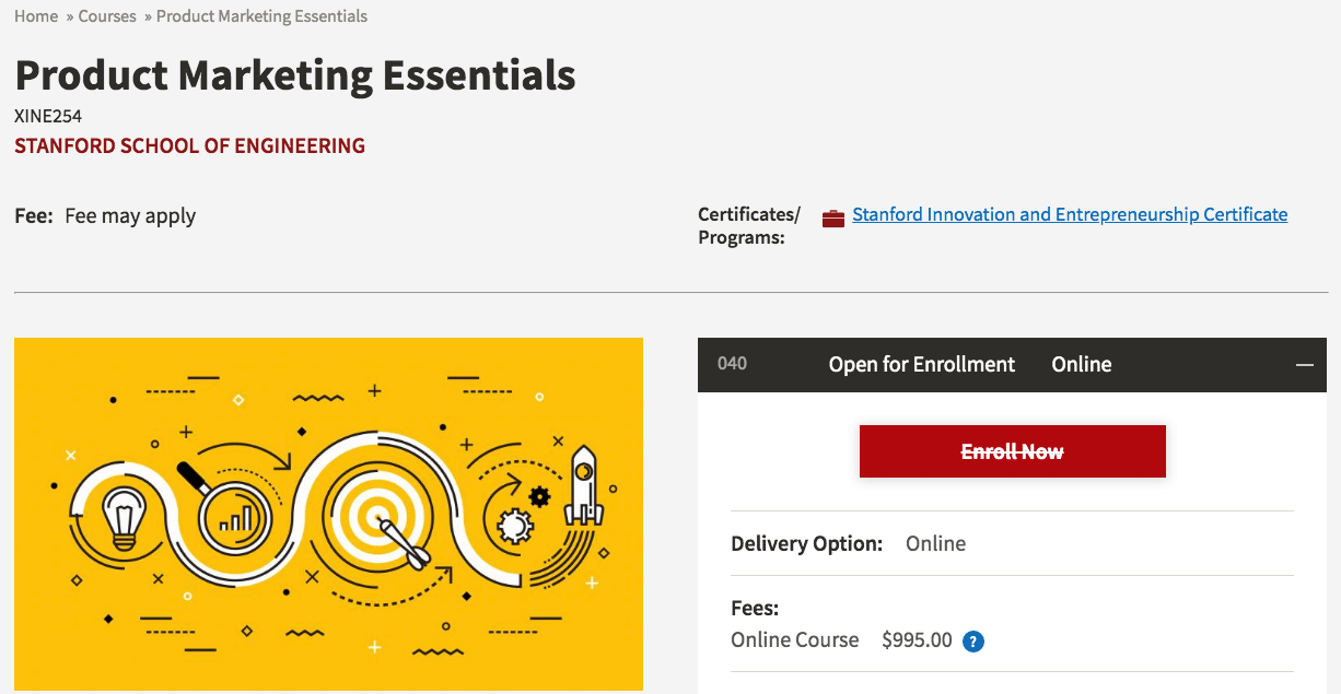 Product Marketing Essentials by Stanford School of Engineering
