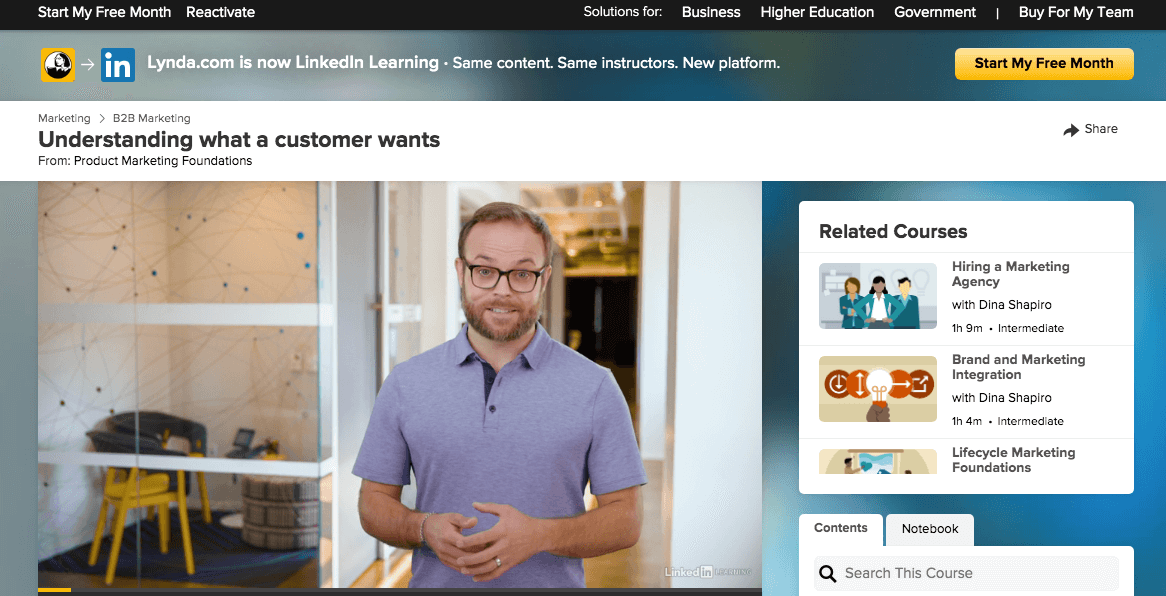 Product Marketing Foundations by LinkedIn Learning
