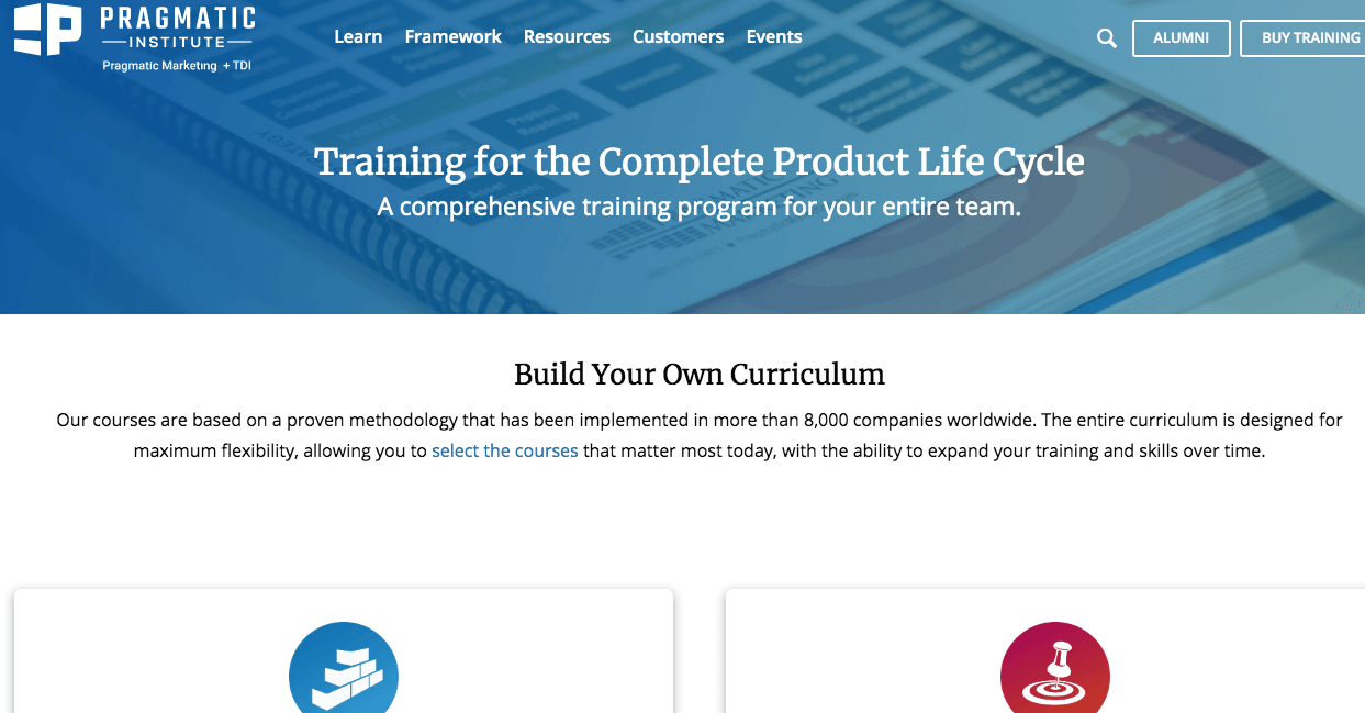 Training for the Complete Product Life Cycle by Pragmatic Institute