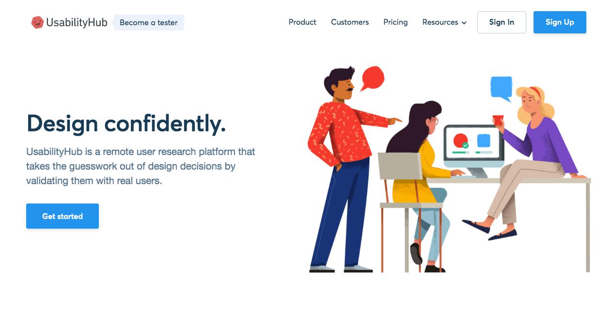 UsabilityHub. Screenshot.