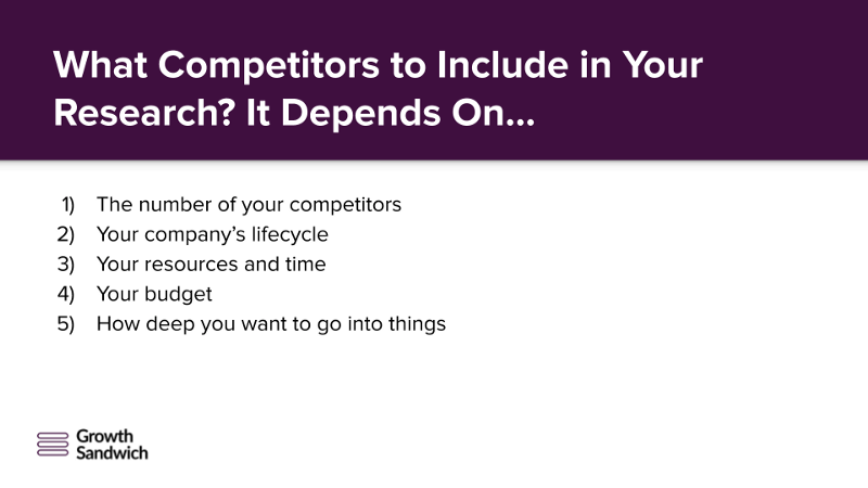 What competitors to include in your competitor research-