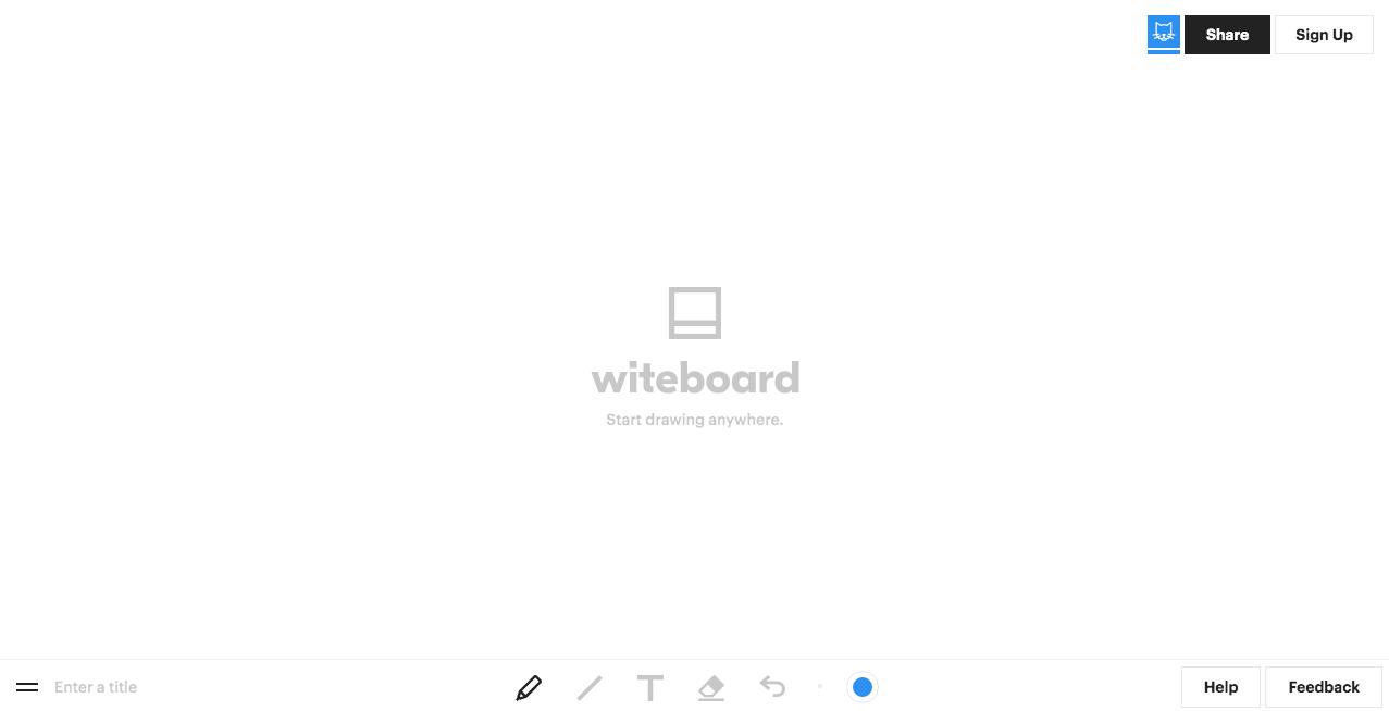 Witeboard Website. Screenshot.