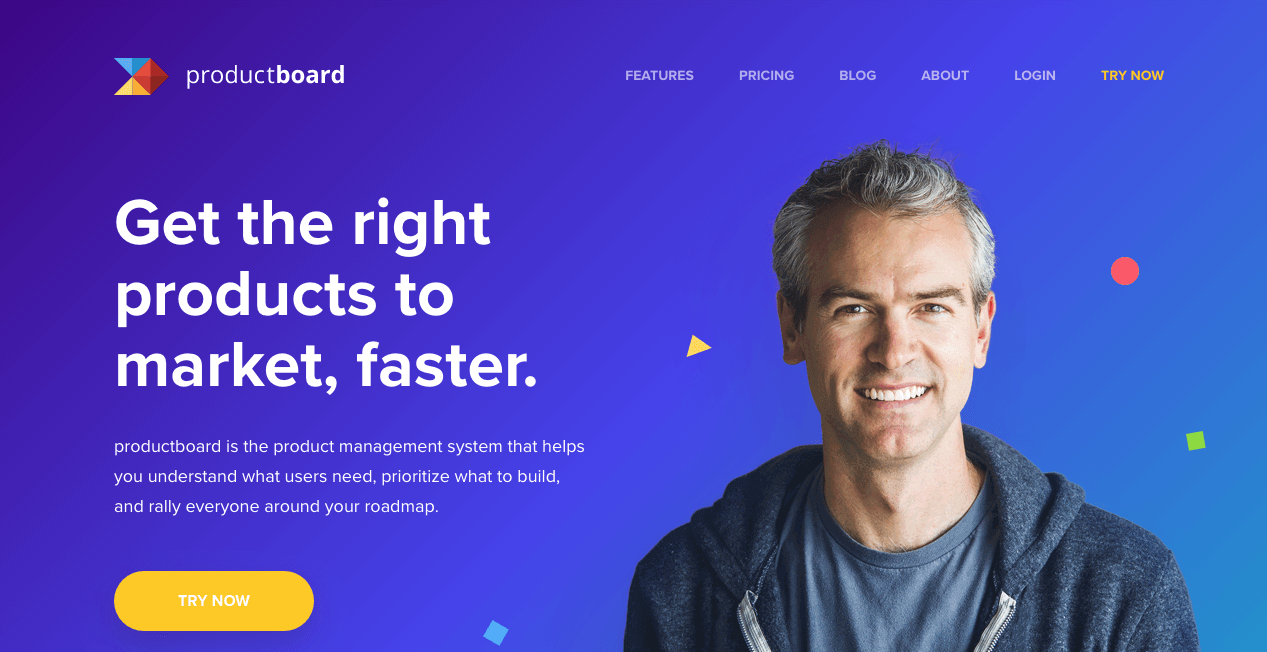 productboard Website. Screenshot.