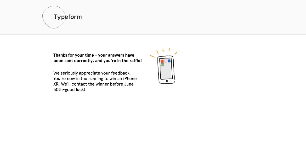 Complete Survey Message