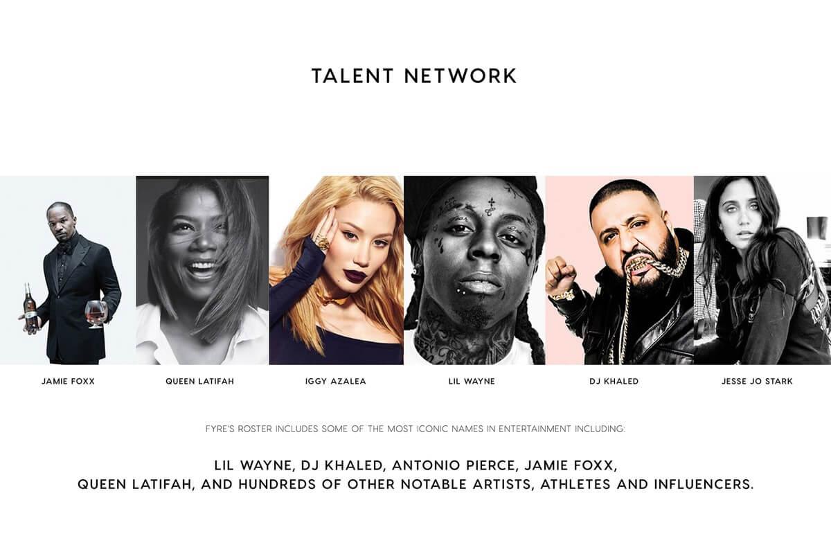 Fyre App Talent Network