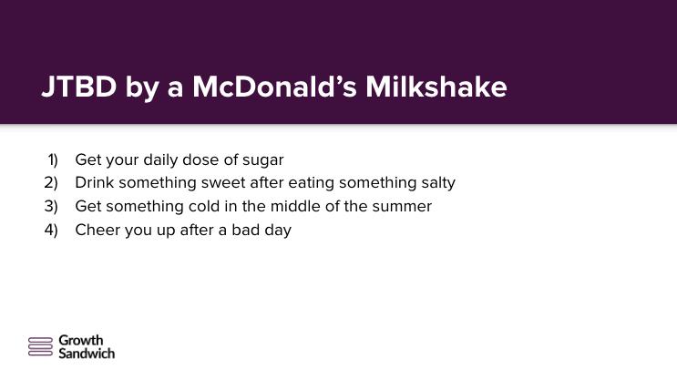JTBD by a McDonald's Milkshake