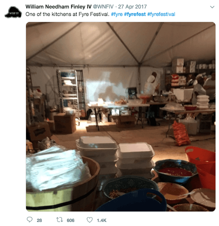 Twitter Post on Fyre Festival
