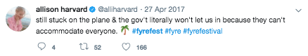 Twitter Post on Fyre Festival 3