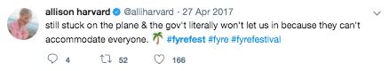 Twitter Post on Fyre Festival 3
