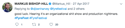 Twitter Post on Fyre Festival 5