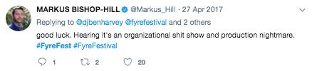 Twitter Post on Fyre Festival 5