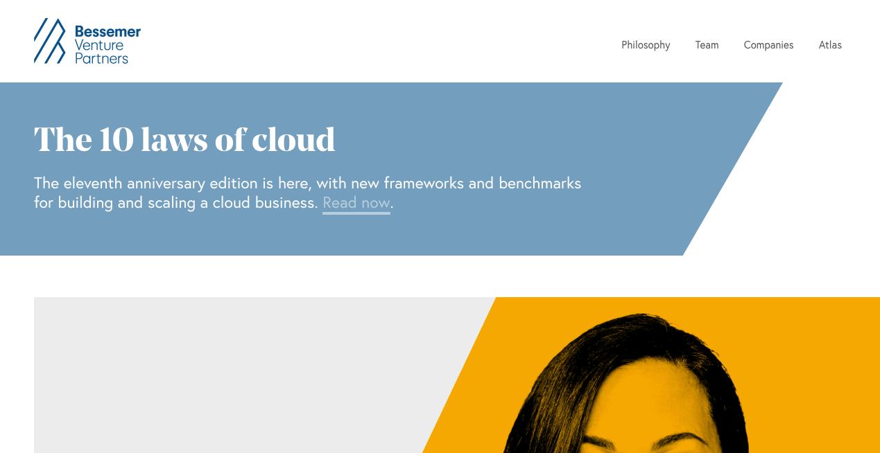 Bessemer Venture Partners Homepage.