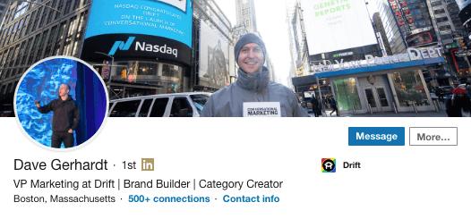 Dave Gerhardt on LinkedIn.