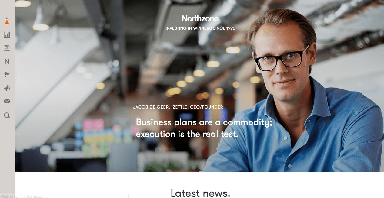 Northzone Homepage.