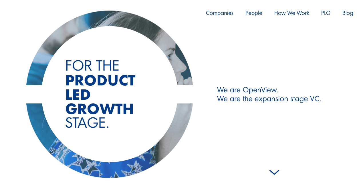 OpenView Venture Homepage.