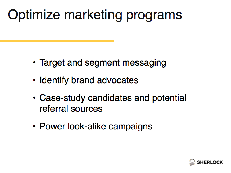 Optimize Marketing Programs