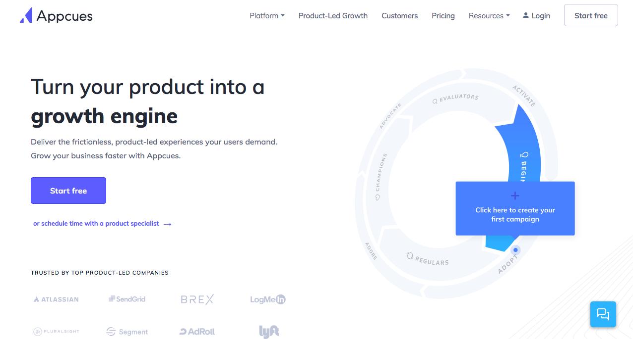 Appcues Homepage