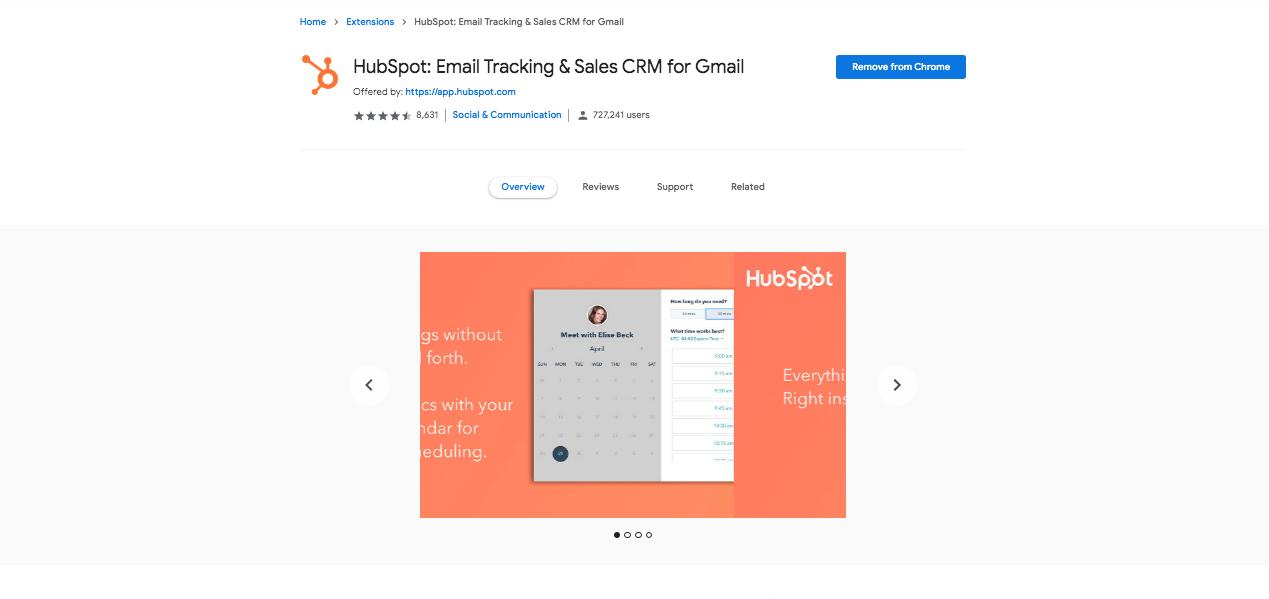 HubSpot Sales Chrome Extension
