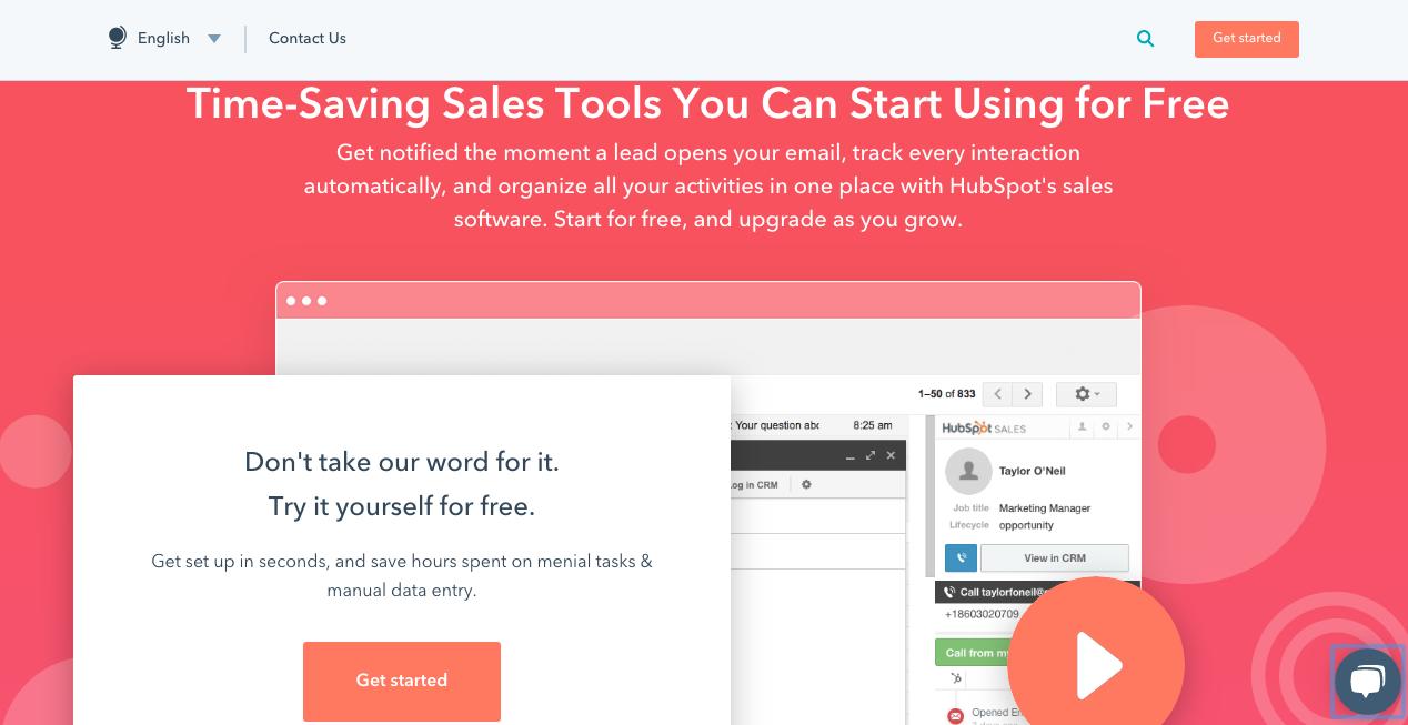 HubSpot Sales Product