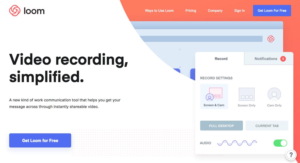 Loom Homepage