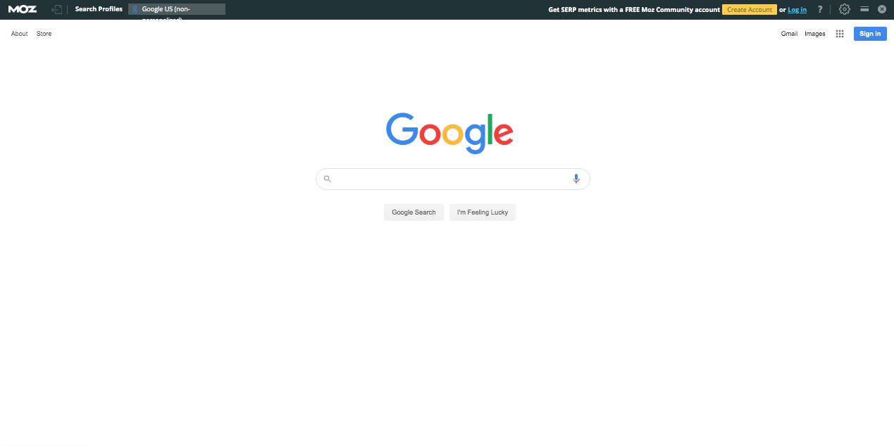 MozBar on Google Search